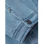 Three Quarter Sleeve Casual Denim Jeans Jacket for sale