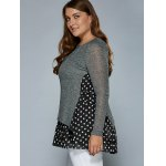 Knitted Polka Dot Layer Look Dress deal