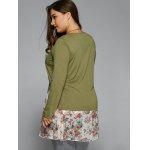 Ruched Floral T-Shirt for sale