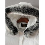 cheap Padded Faux Fur Hooded Coat