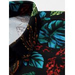 Plus Size 3D Colorful Leaves Print Long Sleeve Shirt deal