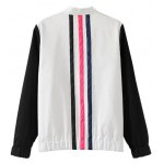 cheap Zipped Striped Bomber Jacket