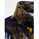 Plus Size 3D Birds and Leaves Print Long Sleeve Shirt deal