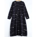 cheap Small Flag Pattern Knit High Low Dress