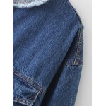 Raw Edge Patched Back Denim Jacket deal