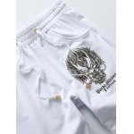 Dragon Print Plus Size Lace-Up Beam Feet Jogger Pants deal