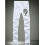 Dragon Print Plus Size Lace-Up Beam Feet Jogger Pants