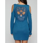 Hollow Out Skull Mini Sheath Dress