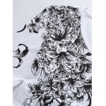 Plus Size Bird and Florals Print V-Neck Long Sleeve T-Shirt deal