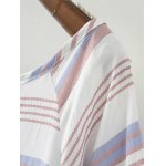 Flared Sleeve Striped Tunic Top deal