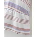 best Flared Sleeve Striped Tunic Top