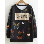 Chumo Sweatshirt in Longline with Butterfly Print