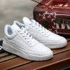 PU Leather Plaid Pattern Lace-Up Casual Shoes