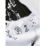 Plus Size Chinoiserie Calligraphy Print Lace-Up Beam Feet Jogger Pants deal