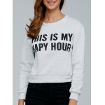 Long Sleeve Letter Print Pullover Sweatshirt
