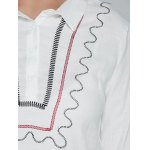 Plus Size Embroidered Trim Shirt photo