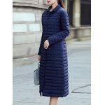 cheap Button Up Long Quilted Coat