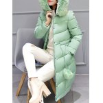 cheap Hooded Long Quilted Coat