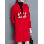 Floral Embroidered Long Coat deal