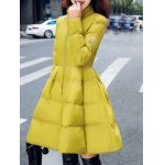 cheap Fit and Flare Puffer Coat