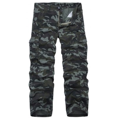 Camo Print Military Army Cargo Pants