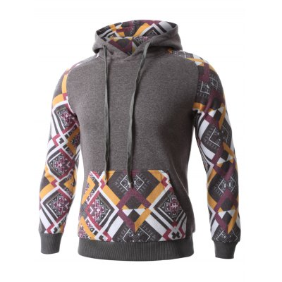 Geometric Print Splicing Raglan Sleeve HoodieMens Hoodies &amp; Sweatshirts<br>Geometric Print Splicing Raglan Sleeve Hoodie<br><br>Material: Cotton,Polyester<br>Clothing Length: Regular<br>Sleeve Length: Full<br>Style: Fashion<br>Weight: 0.550kg<br>Package Contents: 1 x Hoodie