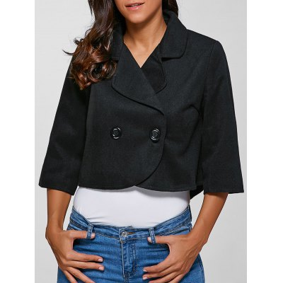 Buttoned 3/4 Sleeves Jacket