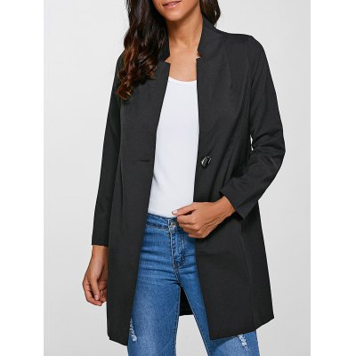 Slimming Single-Buttoned Coat
