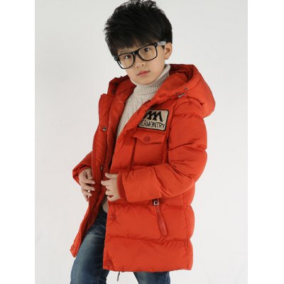 Appliqued Hooded Padded Coat