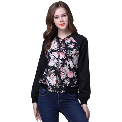 Stand Collar Flower JacketJackets &amp; Coats<br>Stand Collar Flower Jacket<br><br>Clothes Type: Jackets<br>Material: Polyester<br>Type: Slim<br>Clothing Length: Regular<br>Sleeve Length: Full<br>Collar: Stand-Up Collar<br>Closure Type: Zipper<br>Pattern Type: Floral<br>Embellishment: Zippers<br>Style: Casual<br>Season: Fall,Spring,Winter<br>Weight: 0.550kg<br>Package Contents: 1 x Jacket