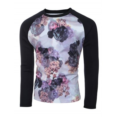 Raglan Sleeves Floral Printed SweatshirtMens Hoodies &amp; Sweatshirts<br>Raglan Sleeves Floral Printed Sweatshirt<br><br>Material: Cotton,Polyester<br>Clothing Length: Long<br>Sleeve Length: Full<br>Style: Casual<br>Weight: 0.600kg<br>Package Contents: 1 x Sweatshirt