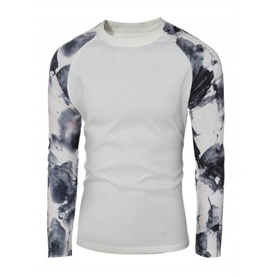 Splatter Paint Printed Raglan Sleeve SweatshirtMens Hoodies &amp; Sweatshirts<br>Splatter Paint Printed Raglan Sleeve Sweatshirt<br><br>Material: Cotton,Polyester<br>Clothing Length: Long<br>Sleeve Length: Full<br>Style: Casual<br>Weight: 0.650kg<br>Package Contents: 1 x Sweatshirt