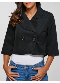 3/4 Sleeves Buttoned Jacket