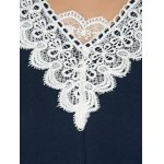 best Baggy Lace Spliced Blouse