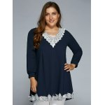 Baggy Lace Spliced Blouse deal