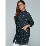 Plus Size Stars Printed Loose Sun-Proof  Coat for sale