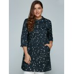 cheap Plus Size Stars Printed Loose Sun-Proof  Coat