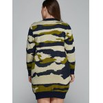 best Plus Size Camo Print Fitted Sweater Dress