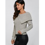 Lace-Up Pullover Knitted Sweater deal