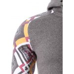 Geometric Print Splicing Raglan Sleeve Hoodie for sale