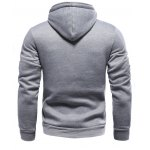 cheap Color Block Splicing Oblique Buttons Embellished Hoodie