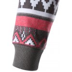 Geometric Print Spliced Raglan Sleeve Hoodie photo