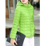 cheap Hooded Fitted Down Jacket