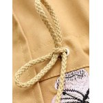 Hooded Embroidered Drawstring Coat for sale