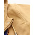 Hooded Embroidered Drawstring Coat deal