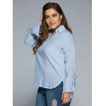 High Low Striped Plus Size Tunic Shirt for sale