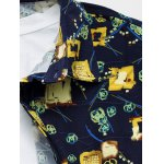Plus Size Abstract Floral Print Long Sleeve Shirt deal