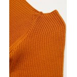 cheap Flare Sleeve Color Block Fitting Sweater