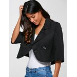 3/4 Sleeves Buttoned Jacket deal