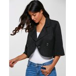 cheap 3/4 Sleeves Buttoned Jacket